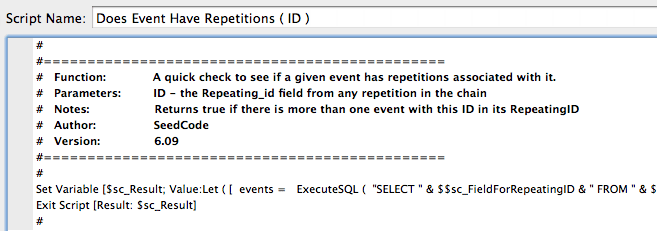 A script after using FileMaker SQL
