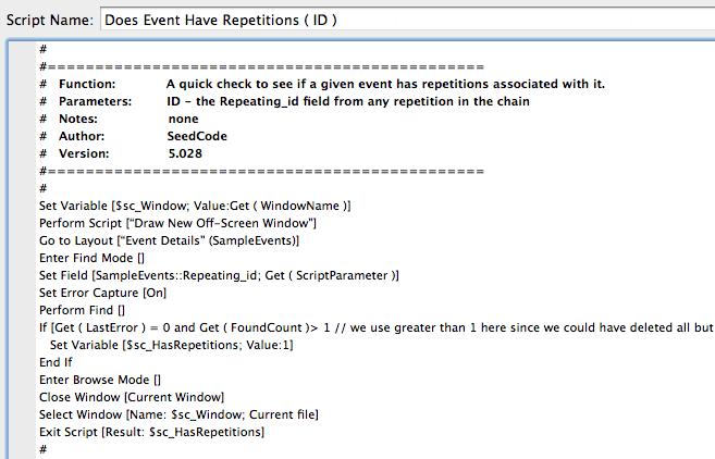 A script before FileMaker SQL