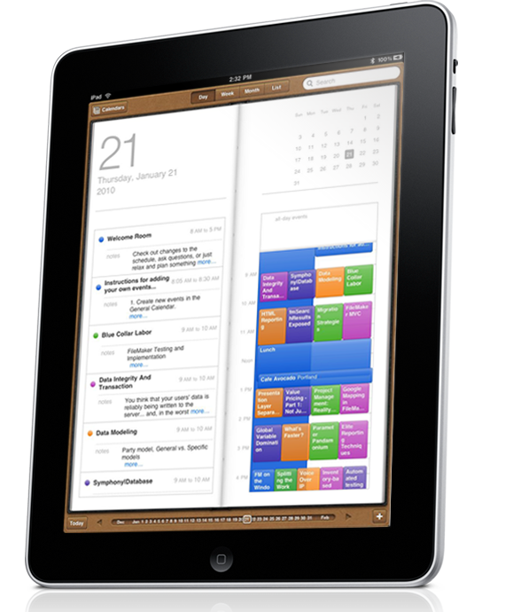 Events in iPad
