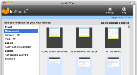 FileMaker Mail Merge in fmSpark
